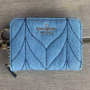 Kate Spade Quilted Denim Wallet